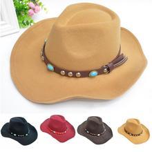 Западный Ковбой шляпа козырек шляпа езда Ковбой шляпа мужчин и женщин широкие поля драгоценность пояс кепки