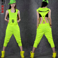 #1015 2017 Neon color Fashion Overalls Candy Hiphop Hip hop women Joggers Women pants suits Pants female Harem Streetwear