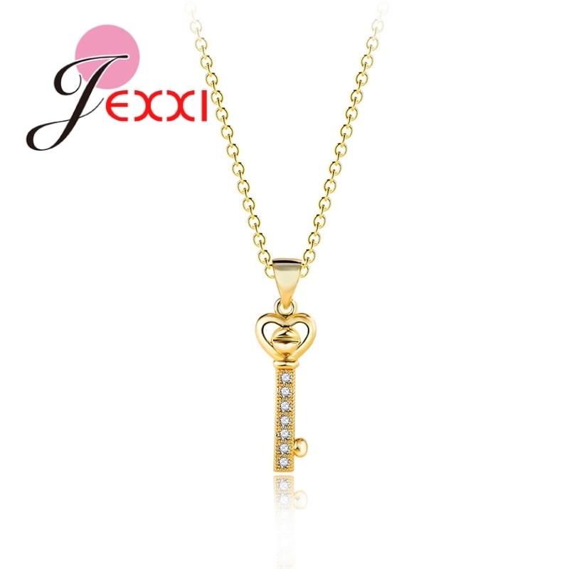 Sterling Silver-Fancy Key Necklace or Pendant