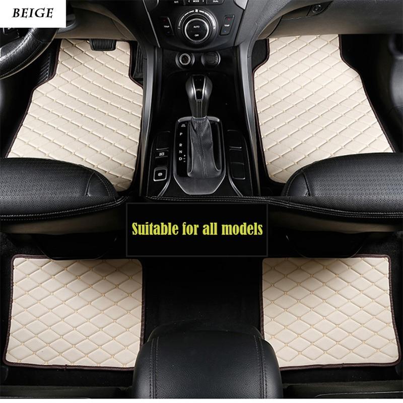 Universal leather car floor mats for Ford Focus Explorer Expedition Fusion Ecosport Ranger Mustang F150 custom fit car floor car floor