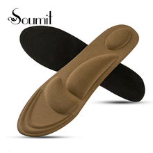 Soumit Sport Pad Sponge Shoe Insoles Arch Support Orthotic Massage Pain Relief Insert Shock Absorber Comfort Foot Cushion Pads orthotic arch support sport shoes insoles cushion pain relief foot shoe pad yellow gray color pu leather new high quality s m l