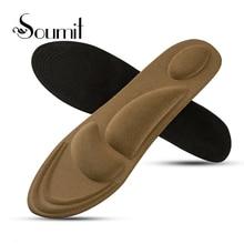купить Soumit Sport Pad Sponge Shoe Insoles Arch Support Orthotic Massage Pain Relief Insert Shock Absorber Comfort Foot Cushion Pads по цене 144.59 рублей