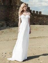 Chiffon Wedding Dresses Hot Summer Beach Spaghetti Straps Modern Custom Made Bridal Gowns Pleated vestidos de noiva