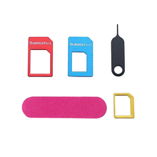 UANME Nano Sim Card Adapter+Regular & Micro Sim+Standard SIM Tools Kit