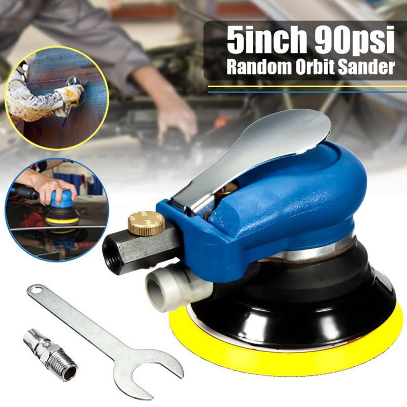цена на 90PSI Air Random Orbital Sander 5 inch125mm Dual Action Vacuum Pneumatic Tools Hose Vacuum Hose
