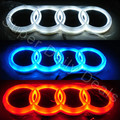 18cm X 5.8cm 18.5cm X 5.85cm White/Blue/Red 4D Rear Emblem Light for Audi Q5 A3 Led badge car logo sticker light