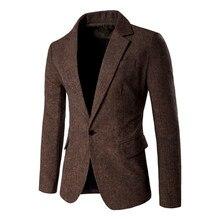 Men Blazer Autumn 2017 New Fashion Casual Cotton Polyester Slim Suit Blazer Masculino Male Suits Jacket Striped Blazer