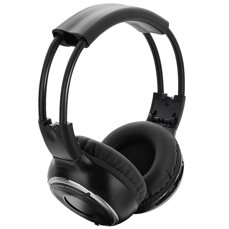 New IR Infrared Headphone Wireless Stereo Car Headphones Headset Dual Channel Earphones Compatible with Most Audio Devices