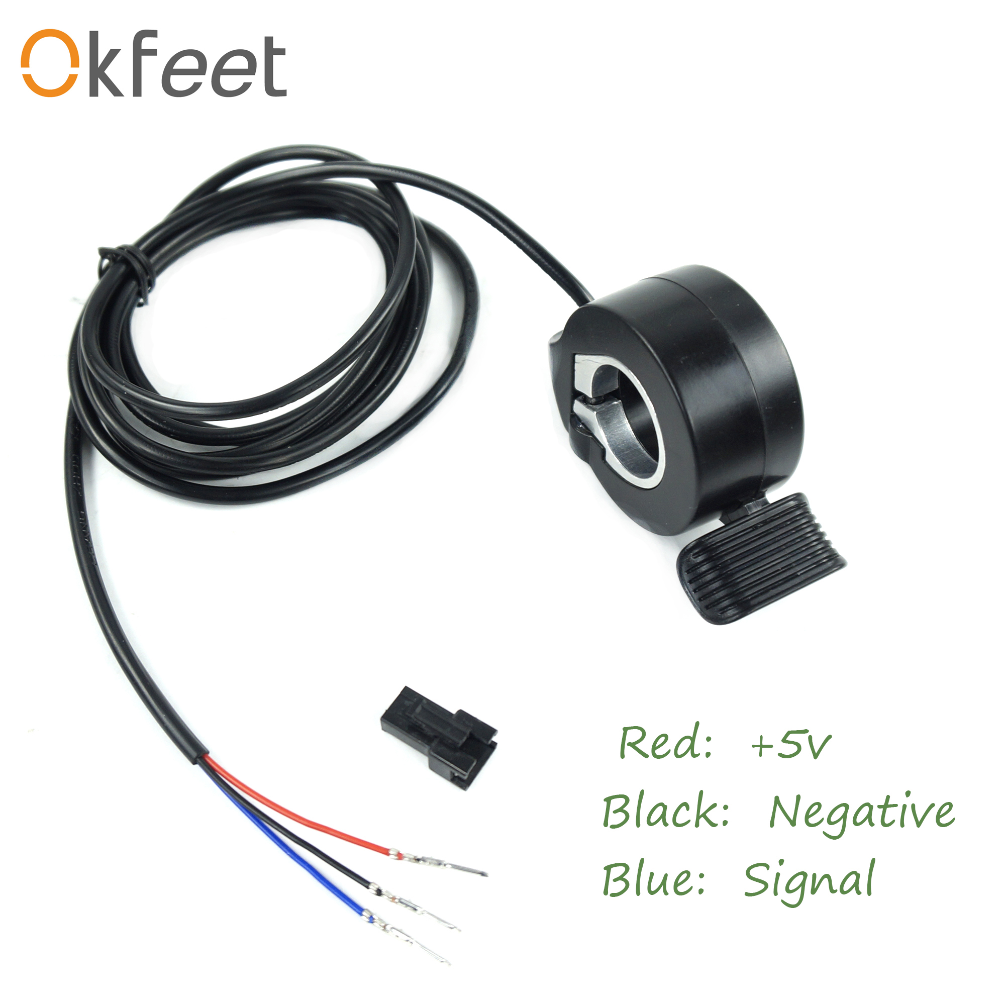 Okfeet Ebike 24V 36V 48V 72V Thumb Throttle, Ebike Accelerator,  Electric Scooter Throttle Speed Throttle For E Bike Parts