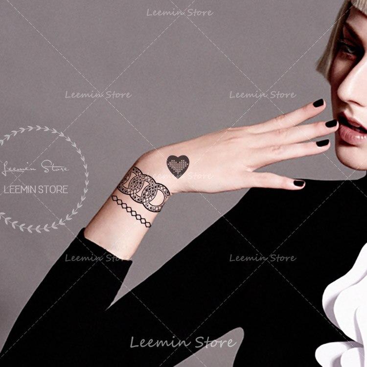 117 Pulsera Tatuaje Temporal Impermeable Falso Tatuaje Para Tobillo Mano En Tatuajes Temporales De Belleza Y Salud En Aliexpresscom Alibaba
