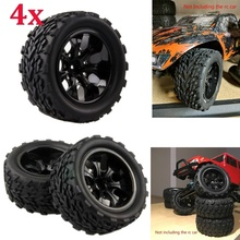 цена на RC Rubber Sponge Tires Tyre Rim Wheel for RC Car Off Road Monster Truck HPI HSP Traxxas 1:10 RC Monster Bigfoot Car Buggy