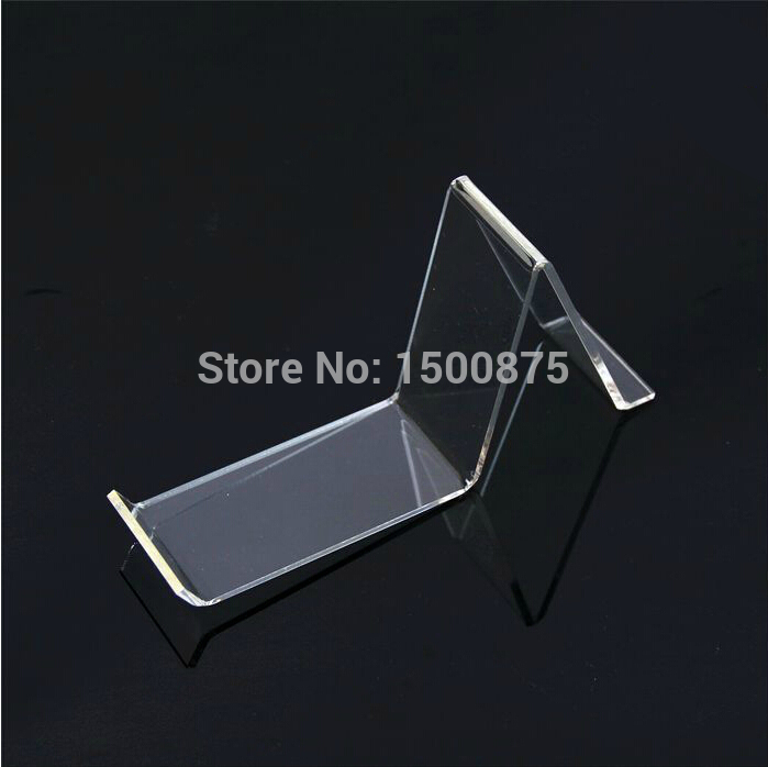 цена 100psc Long A-shaped Clear Acyrlic Shoe Display Stand Holder Shoe Display Racks Free Shipping