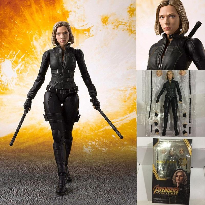 Movie Avengers4 Avengers Endgame Infinity War SHF Black Widow Natasha Romanoff Action Figure Model Toy Doll Gift