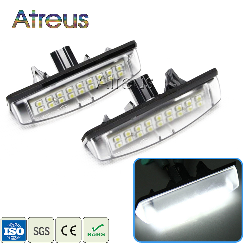 2X Car LED License Plate Light 12V SMD Number Plate Lamp For Toyota Avensis Verso Camry Aurion Prius For Lexus IS200 LS430 GS300 special car trunk mats for toyota all models corolla camry rav4 auris prius yalis avensis 2014 accessories car styling auto