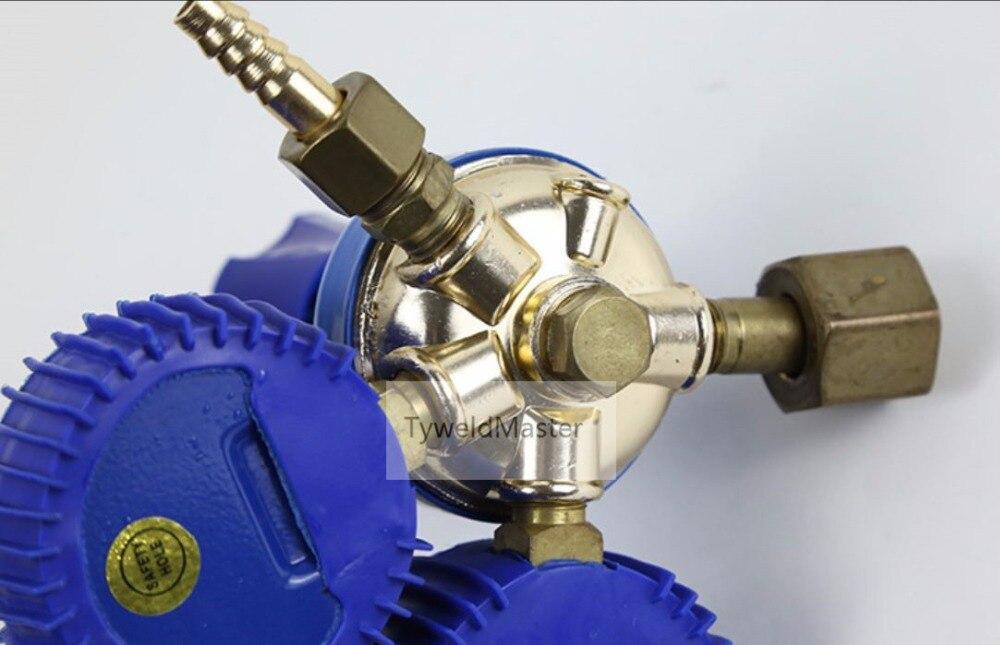 酸素レギュレータゴム保護酸素ガスレギュレータ溶接 & 切断アプリケーション接続入口 G5/8 出口 M16 * 1.5  グループ上の ツール からの 溶接トーチ の中 2