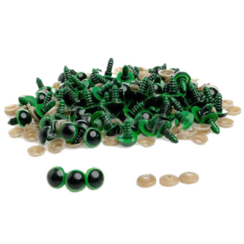 100pcs 5-8mm Color-Mix Plastic Safety Eyes For Teddy Bear Stuffed Toy Snap Animal Puppet Doll Craft DIY Accessories