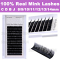 2016 New Hot Sale 12 Rows/Tray False Eyelash 100% Real Mink Eyelashes Natural Soft Eye Lashes Real Mink Fur Eyelash Extension