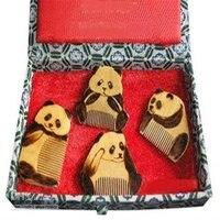 New Guaranteed 100 Chinese Characteristics Gift High Grade Nan Wood Lovely Pandas Collectio