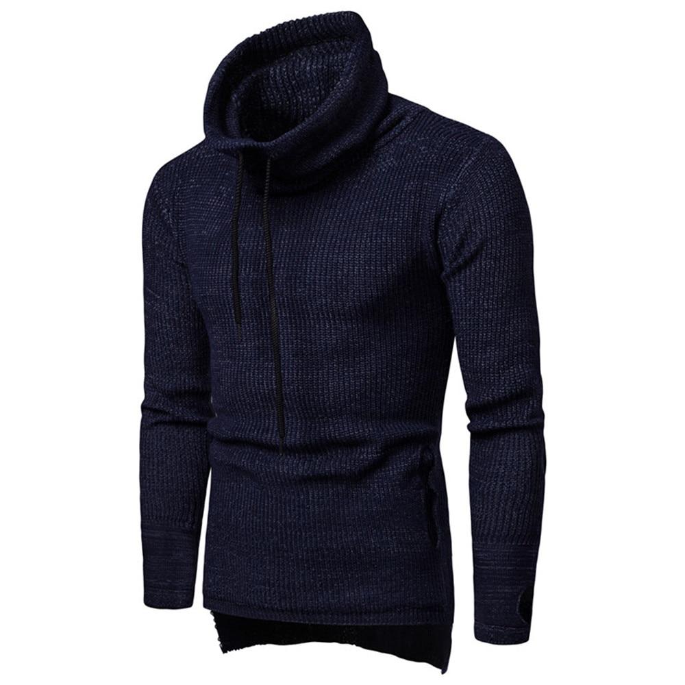 Men Sweater Party-Clothing Knitting Streetwear Male Winter Fashion Cool Punk-Rock Elegant