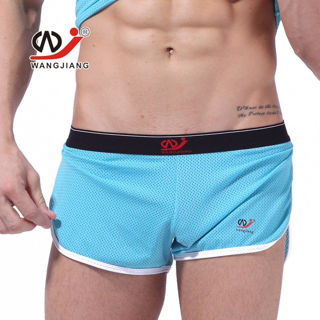 Wj Men Shorts gay outwear network comfortable Sexy Man Boxer Beach gyms shorts male Bermuda Short Homme