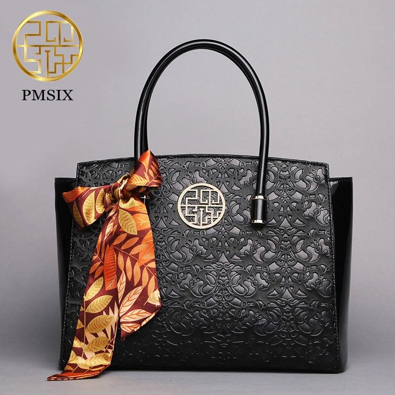 644f87b4f Pmsix mulheres marca de moda bolsa de alta qualidade imitação de couro  floral em relevo bolsa bolsa de ombro fêmea sacos do mensageiro P140011 em  Bolsas de ...