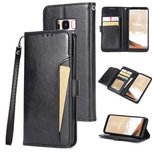 Image 4 - Flip Leather Wallet Case For Samsung S9 S10 Plus Note 10 Pro Multi Card Holder Back Case For iPhone XR X XS Max 7 8 6 6s Plus SE