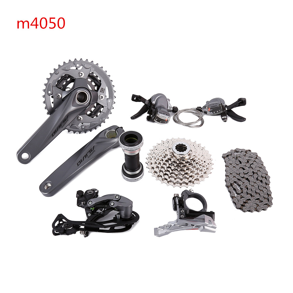 SHIMANO ALIVIO M4000 M4050 T4060 3x9S 27S speed MTB Bicycle groupset with hydraulic disc brake integrated
