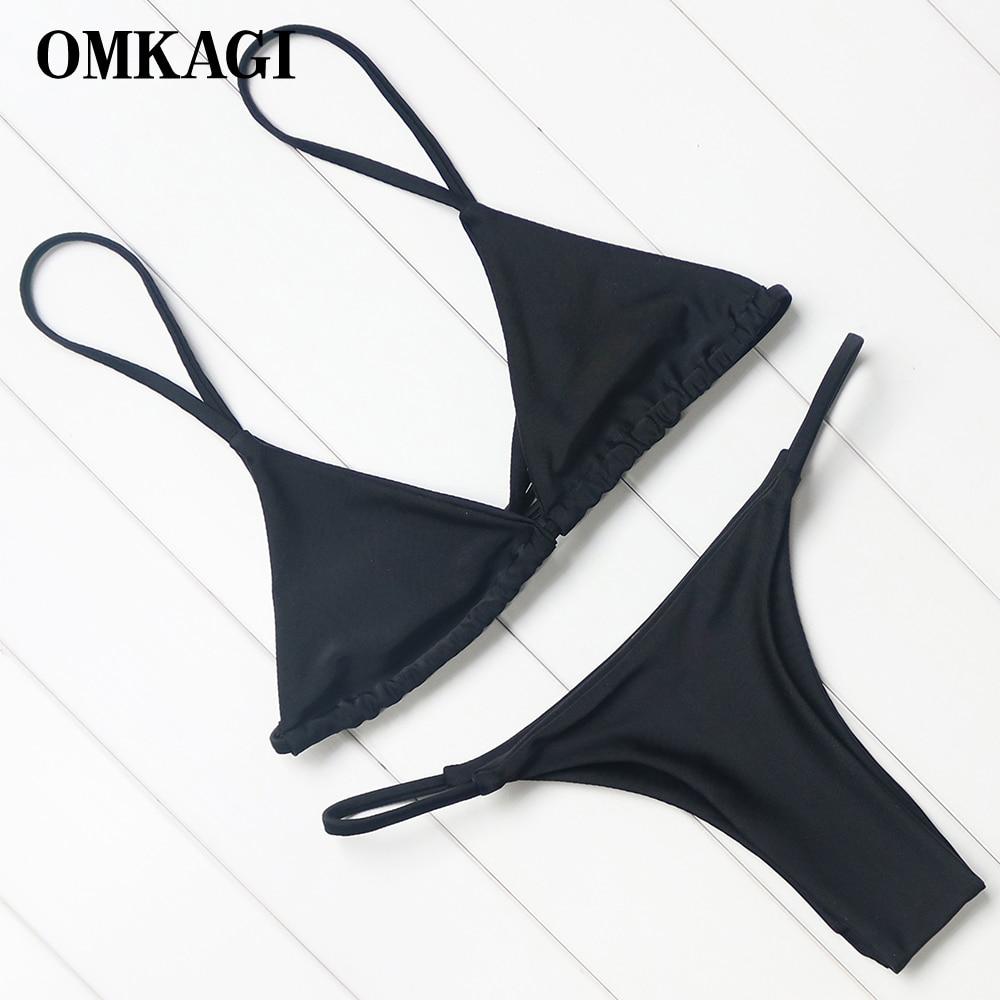 OMKAGI Brand Swimsuit Swimwear Women Biquini Sexy Push Up Micro Bikini Set Swimming Bathing Suit Beachwear Brazilian Bikini 2018 1