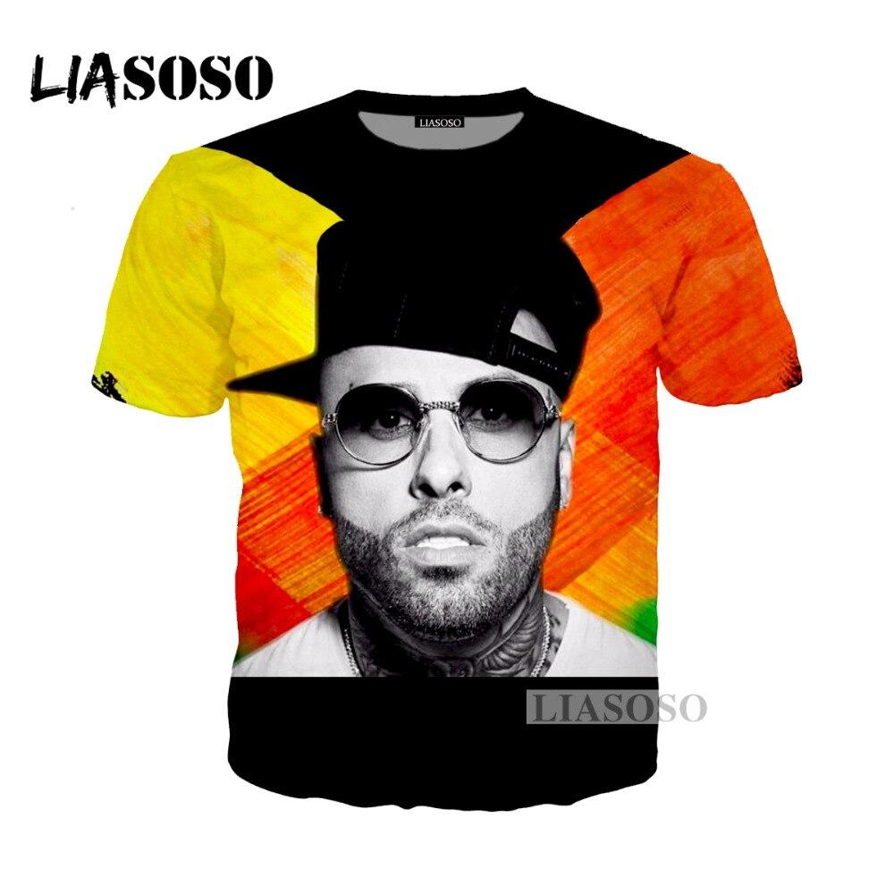 LIASOSO 2018 хип-хоп DJ певица Nicky Варенье, X 3D Футболка с принтом/толстовка унисекс Remix футболки топы Футболка G214