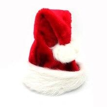 1 шт. высококачественные рождественские шапки с Санта-Клаусом, красные шапки для взрослых и детей, Рождественский Декор, новогодние подарки,...