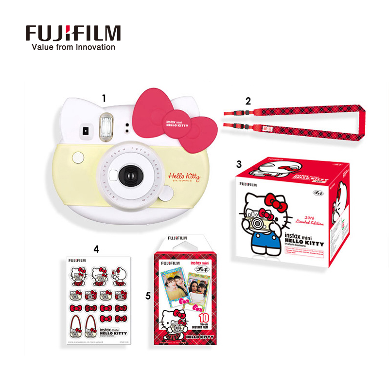 Genuine Fujifilm Instax Mini 8 Camera new style hello kitty camara fotografica instatanea instant Camera red pink Gift packaging