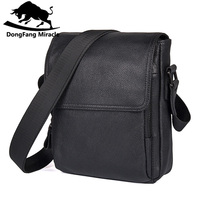 Hot sale New casual genuine leather men bags small shoulder bag men messenger bag crossbody leisure bag