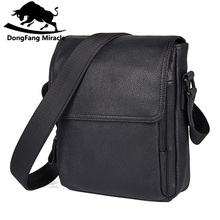 Hot sale New casual genuine leather men bags small shoulder