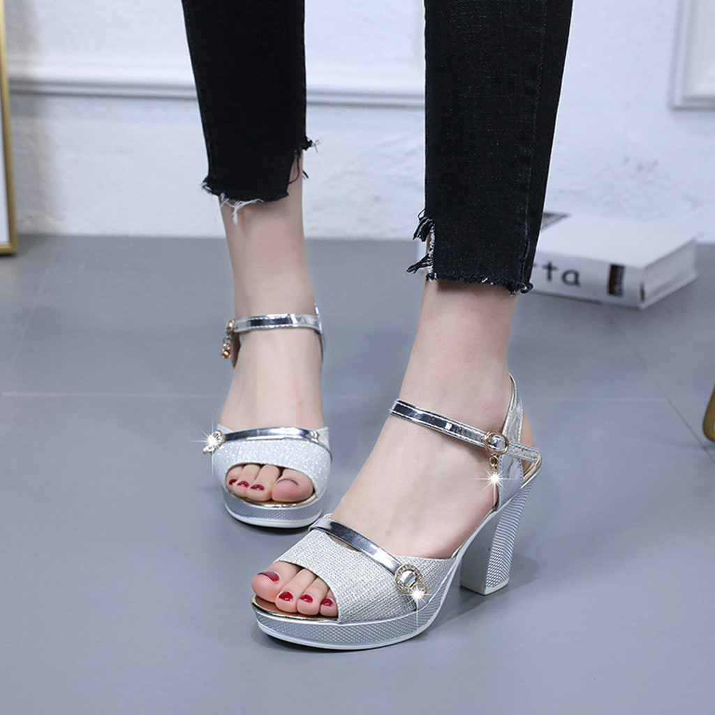 2019 New Hot Women High Heel Shoes Fashion Ankle Buckle Sandals Dress Party Fish Mourh Sandal Sandalias de moda de las mujeres2019 New Hot Women High Heel Shoes Fashion Ankle Buckle Sandals Dress Party Fish Mourh Sandal Sandalias de moda de las mujeres