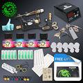 Kit de Tatuaje completo 1 Profesional Rotary Tattoo Machine Gun 4 Tintas Agujas de Suministro de Energía