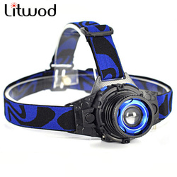 Litwod Z20 LED Headlight Build-in Rechargeable Battery Head Lamp Zoomable Cree Q5 Led Bright Headlamp Head Light Head Flashlight