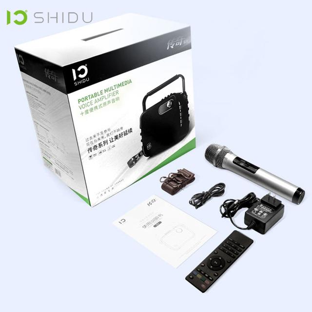 SHIDU 60W Portable Voice Amplifier Bluetooth 4.0 ICloud Control Karaoke Audio Speaker With UHF Wireless Microphone For Speech K5