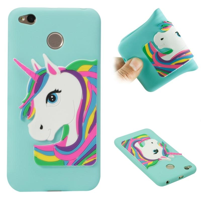 Xiaomi Redmi 4X Cartoon Unicorn Silicone Case on for Cover Fundas Xiomi Phone Carcasa Women