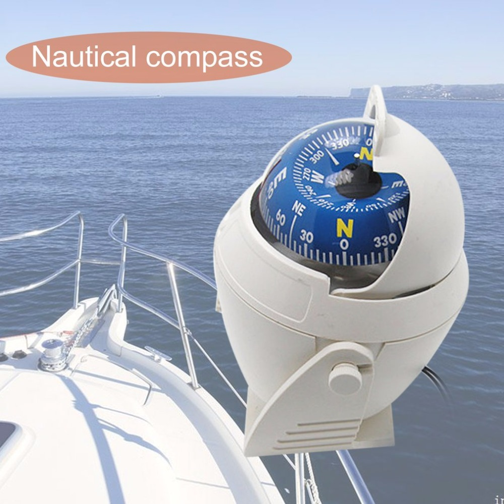 New Sea Marine Pivoting Compass Adjustable Boat Ship Vehicle Compass Led Light Navigational Positioning Compass With The Most Up-To-Date Equipment And Techniques Marine Hardware