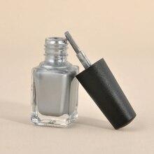 2 шт зеркальный эффект металлик Серебряный лак для ногтей лак с базовым покрытием набор для ногтей маникюрный лак