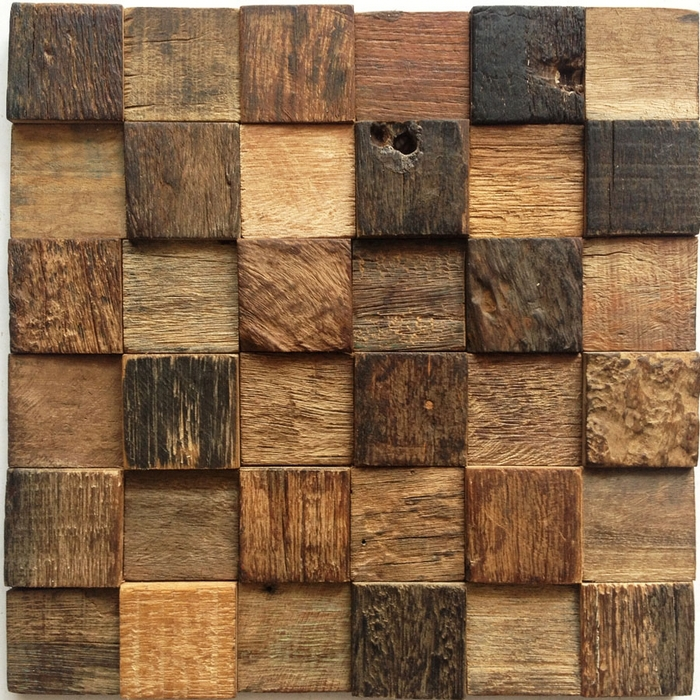 12x12 Natural Rustic Wood Wall Tile Kitchen Tiles Fireplace HME4062 Old Ship