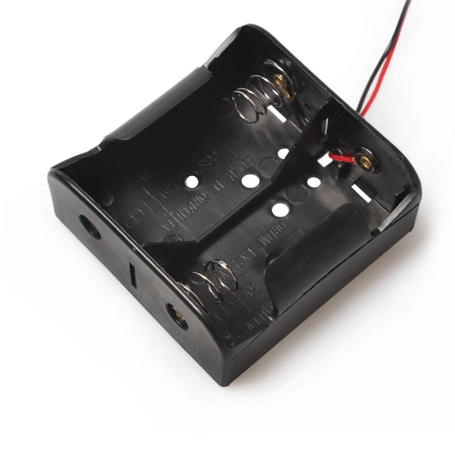 100ピースpp環境保護ワイヤー有鉛バッテリーブロンズニッケルジュエリーホルダーケースボックスなしでカバー用2 × dサイズ3ボルト電池  グループ上の 家電製品 からの バッテリー収納ボックス の中 1