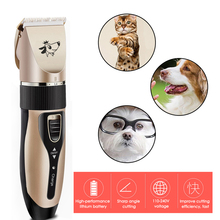 Pet Grooming Hair Clipper Rechargeable Low Noise Cordless Dog Cat Rabbit Hair Trimmer Cutter Kit zowael rfc 280a electric rechargeable hair trimmer pet cat dog fur clipper