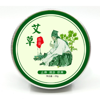 1Pcs Wormwood Ointment Cooling Oil Herbal Medical Balm Plaster Anti itching Moxa Moxibustion Health Care Cream big brass moxa roll burner meridian massage 10pcs chinese medicine therapy moxibustion health care five years old moxa sticks