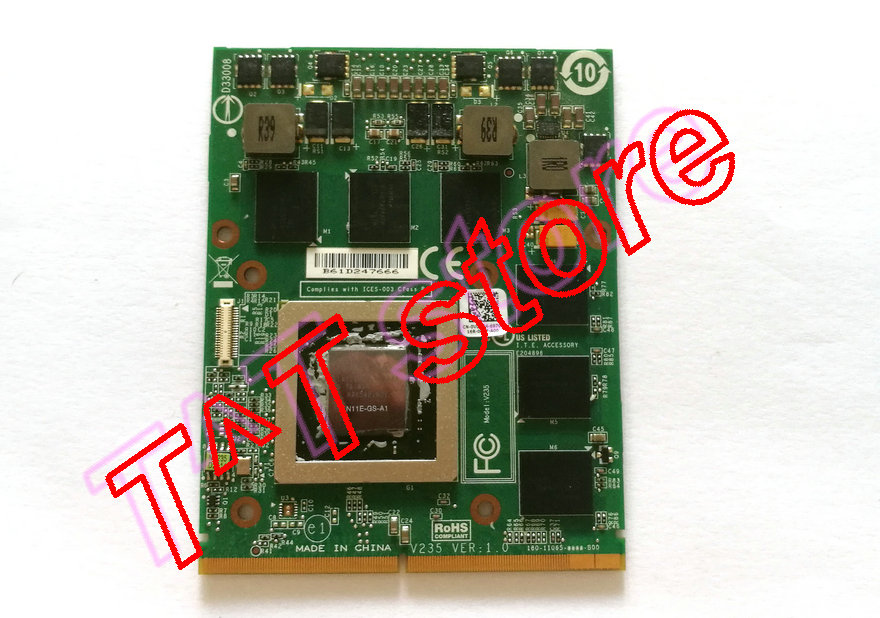 original GTX460M GTX 460M VDV04 0VDV04 CN-0VDV04 N11E-GS-A1 MXM 3.0 DDR5 1.5GB FOR M17X M18X Graphics video card free shipping free shipping 5pcs lot kb930qf a1 930qf a1 qfp offen use laptop p 100% new original