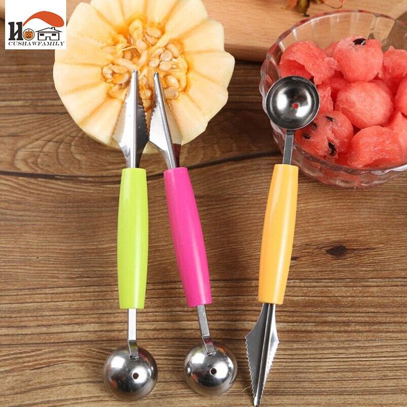CUSHAWFAMILY 1 unids Melón cuchara/pelador de Frutas cuchillo de Fruta Cavar cuc