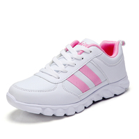 Women Sneakers Mesh Running Shoes Girls Students Female Leather Sports Outdoor Gym Breathable Non slip Fitness Shoes Women Cheap