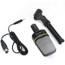 SF 920 Professional Unidirectional ไมโครโฟนเสียงพร้อมขาตั้งสำหรับ PC แล็ปท็อปร้องเพลงและแชท