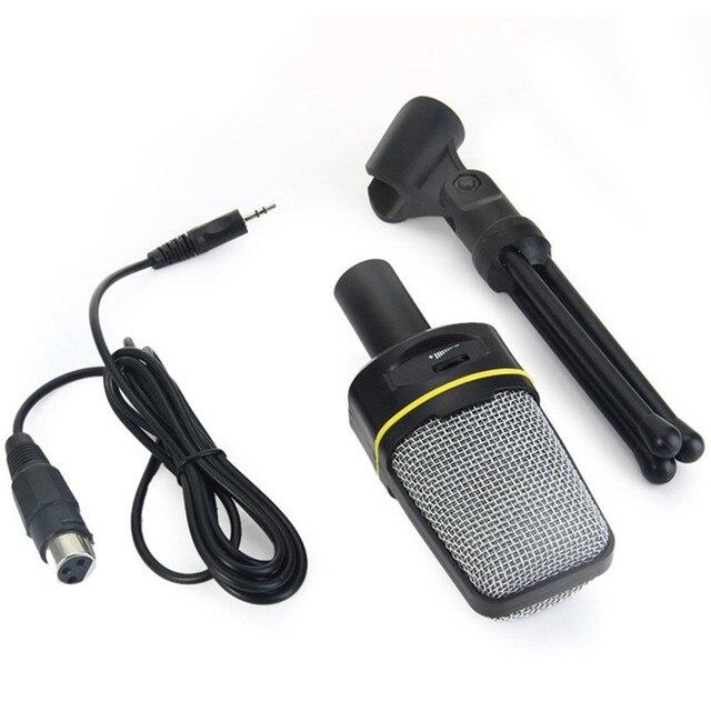 SF 920 מקצועי חד כיווני קול מיקרופון עם Stand מחזיק עבור מחשב נייד תמיכה שירה ומשוחח