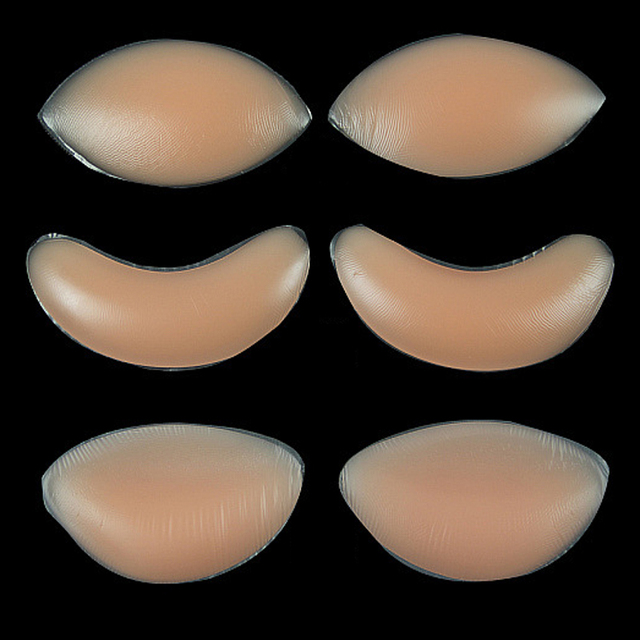 1Pair Soutien Gorge Silicone Gel Bra Insert Pads Breast Enhancer Push Up Bra Pad Women Bikini Swimwear Invisible Sticky Bra Pads